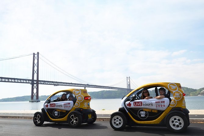 Lisbon Riverside: Self-Drive and Private City Tour in E-Cars