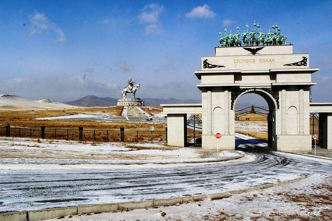 Genghis Khan Statue,Day Tour with Gorkhi-Terelj National Park