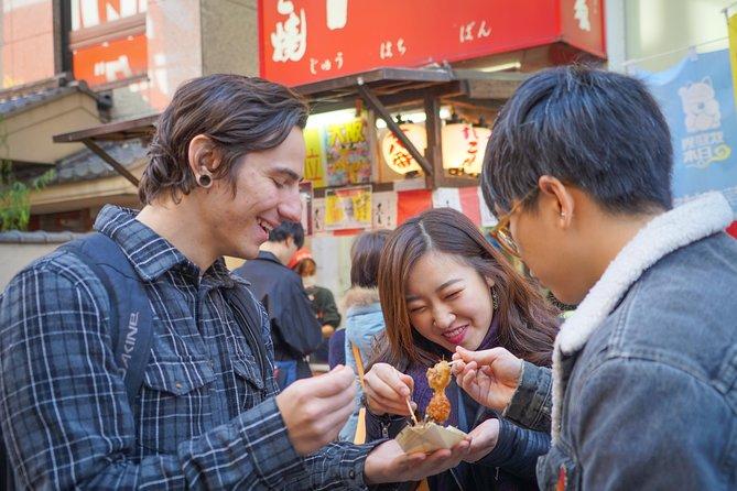 Osaka Local Foodie Walking Tour in Dotonbori and Shinsekai