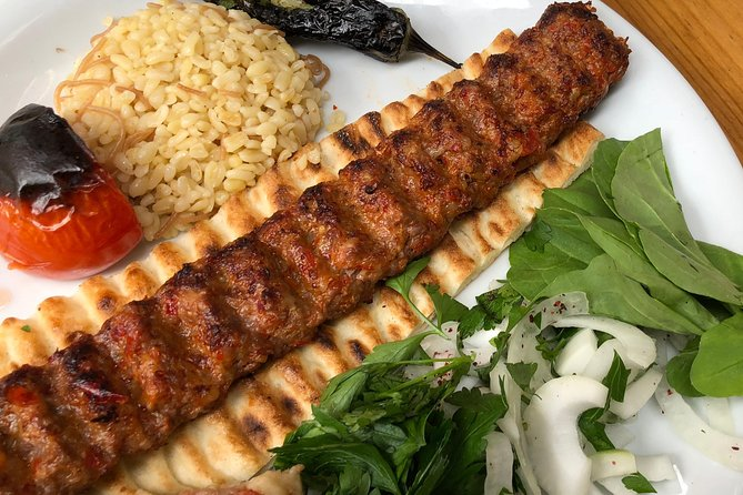 Adana kebap. Minced lamb with spices.