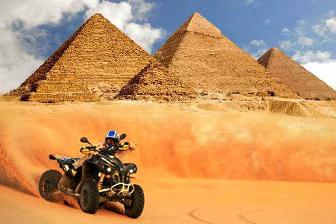 Quad bike adventure with Guided tour to Giza pyramids including camel ride