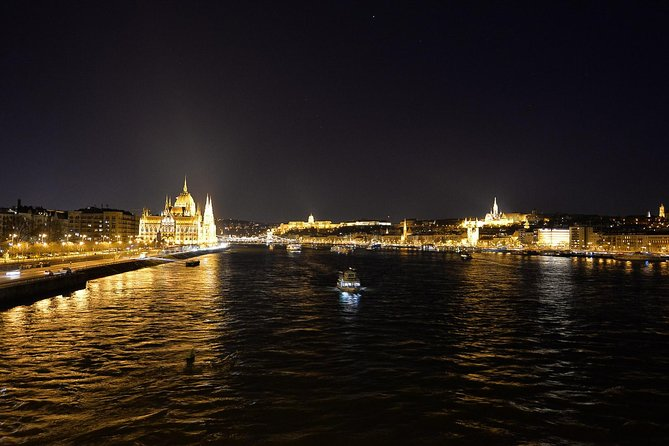 Budapest walking tour at night