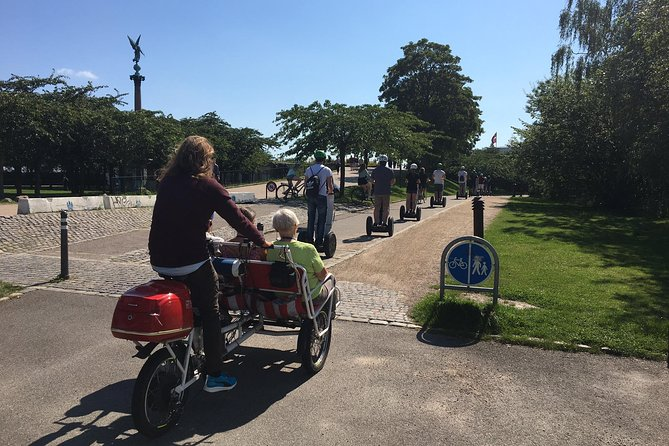 We can also arrange for a rickshaw for people in your group who are not able to stand on a Segway - perfect way to keep the group together!