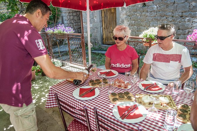 Wine and food tasting in the traditional winery