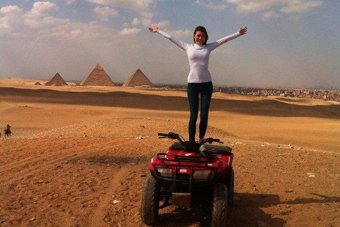Giza Pyramids Adventure Tours on ATV Quad bike ride in desert