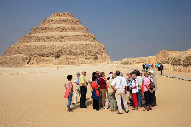 Full Day Tour to Pyramids of Giza Sphinx, Saqqara Step Pyramids and Memphis