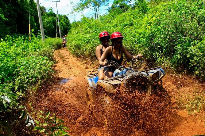 Discover the Adrenaline with our tour with Atvs ziplines and a real Mayan cenote photo 4