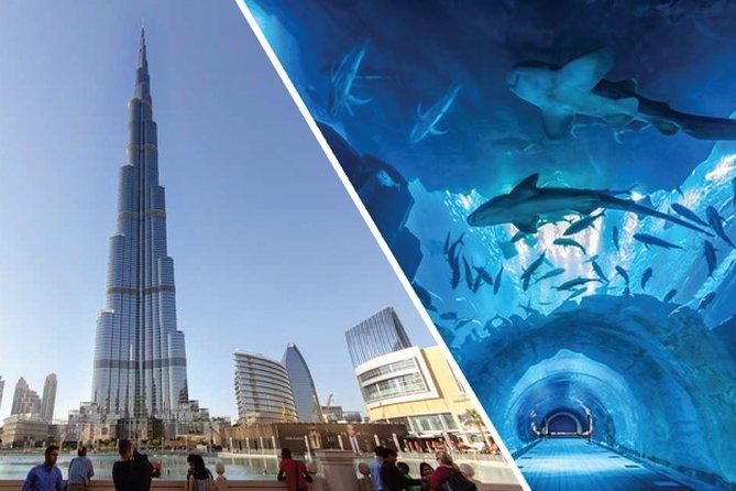 Burj Kalifa At The Top (124 Floor) & Dubai Aquarium & Underwater Zoo