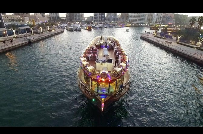 Romantic Dubai Marina Dinner Dhow Cruise With live shows for ( 2Hrs )