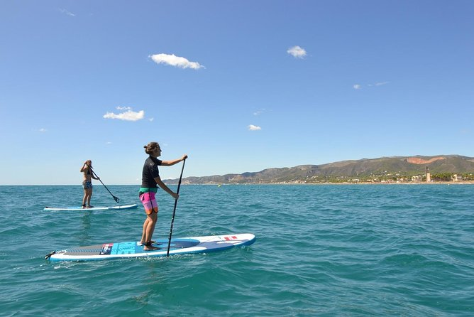Stand Up Paddle Surf Lesson in Castelldedels Beach