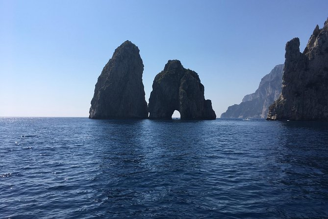Capri and Blue Grotto by Gozzo Boat and Anacapri from Naples