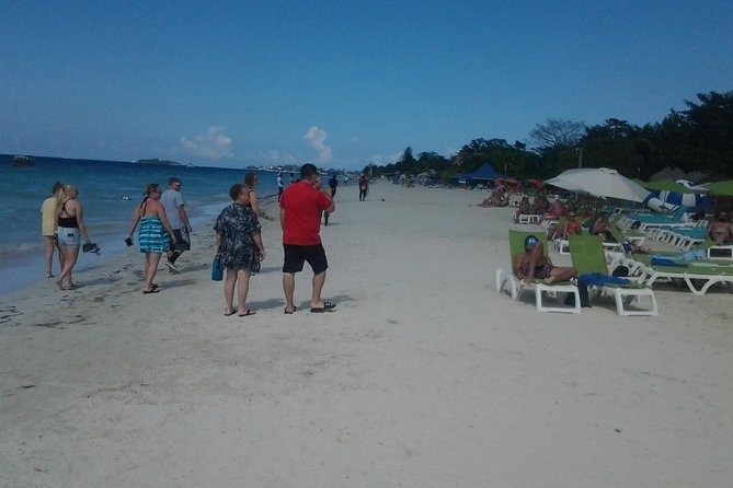 Negril 7 Miles Beach, Rick's Cafe N Time Square Shopping from Falmouth