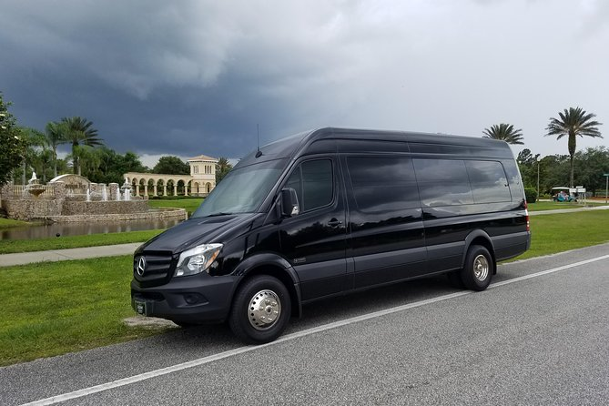 Daytona Beach Private 14 passenger Luxury Mini-bus transfer - 5 passenger min
