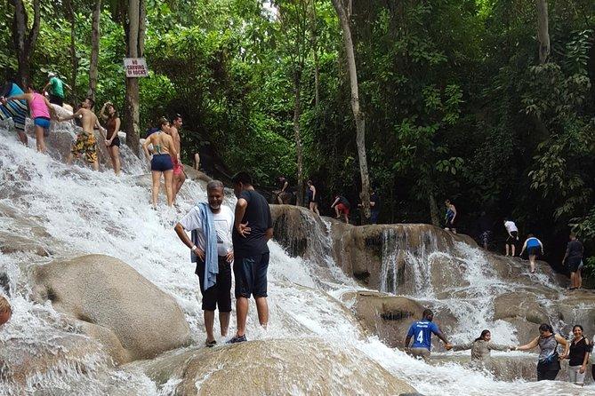 Dunn's River Falls and beach in Ocho Rios Jamaica