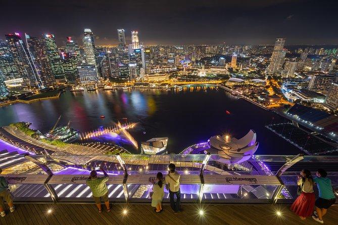 Singapore Night Out: Music & Light show, Marina Bay Sands SkyPark, River  Taxi