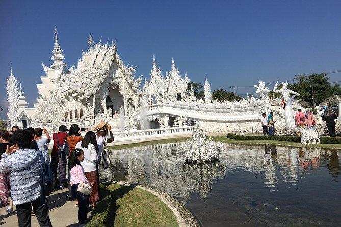 Amazing 4 top temples: Doi Suthep temple, White temple,Blue temple, Black house