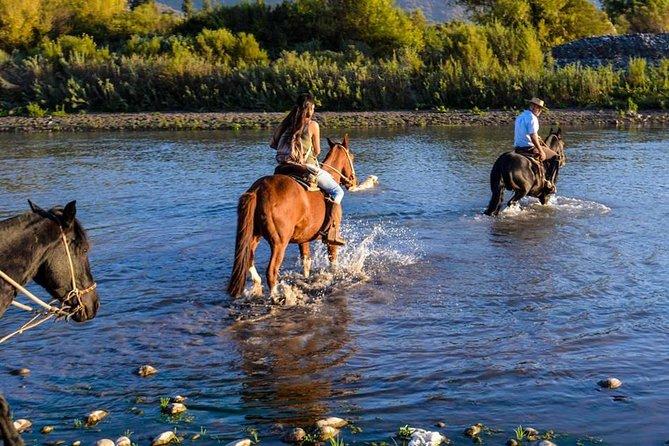 Maipo River. Horseback wine tour