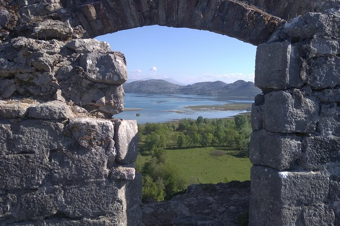 Visiting old fortress in the National Park Skadar lake