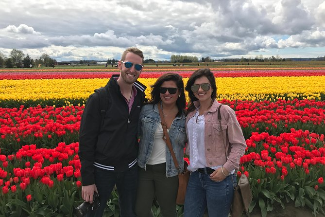 Skagit Valley Tulip Festival Tour with Local Wine & Cheese from Seattle