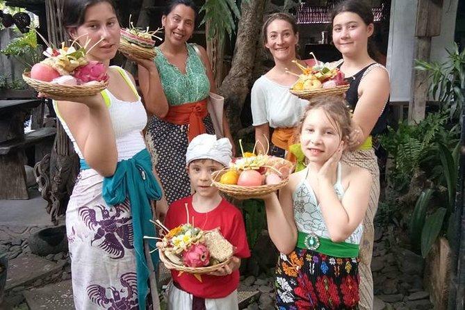 Balinese offerings workshop in Lovina, Bali