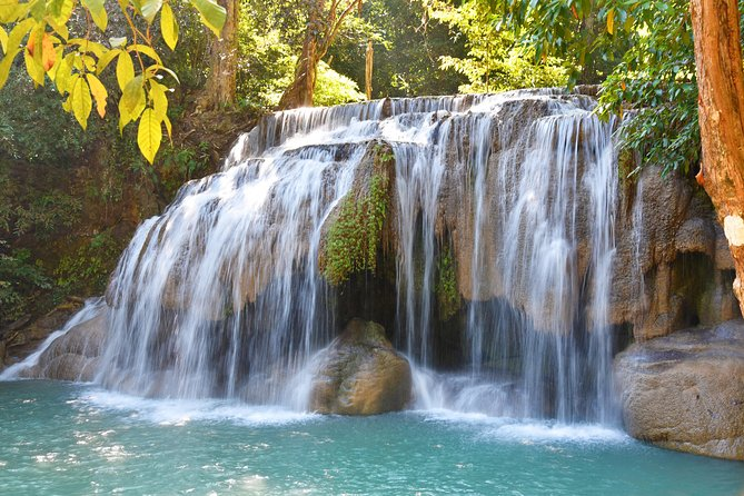 Private Erawan Waterfall & Kanchanaburi Highlights from Bangkok