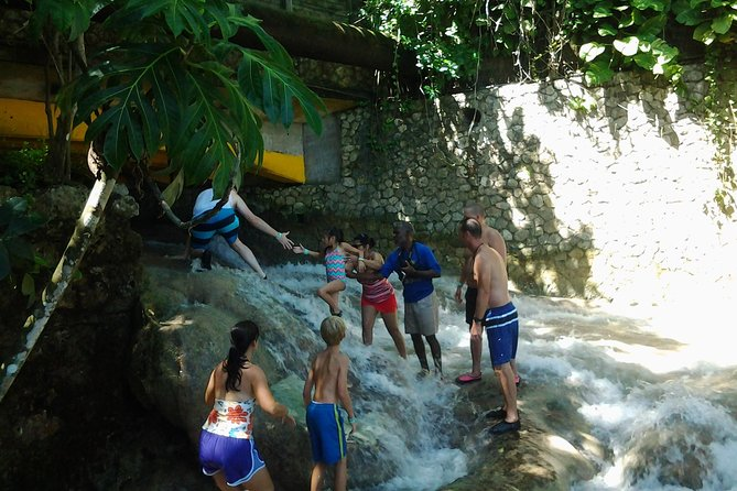 Blue Hole, Zipline and Dunn's River Falls from Falmouth