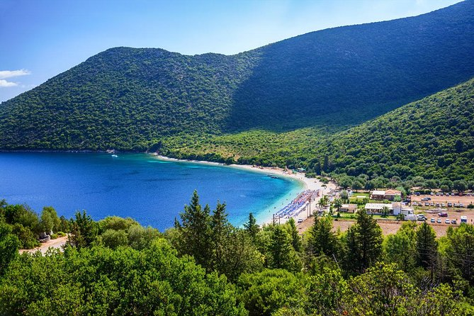 Private Half-day Tour: Antisamos beach Swim, Melissani Lake, Agrilia Monastery