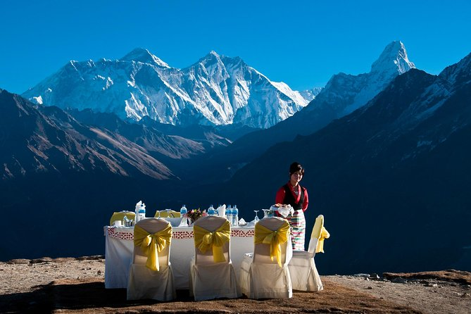 Champagne Breakfast on Everest
