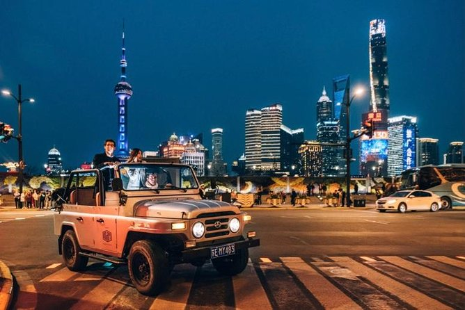 2-Hour The Chic Jeep Night Tour in Shanghai City