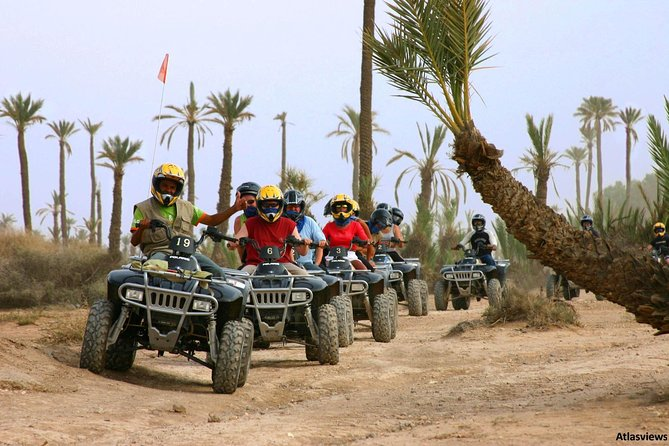 ATV Quad biking in Marrakech desert palmgrove