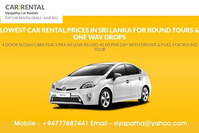 SLOD05-3-Bentota to Colombo Airport Taxi-1 or 2 Pax-Car