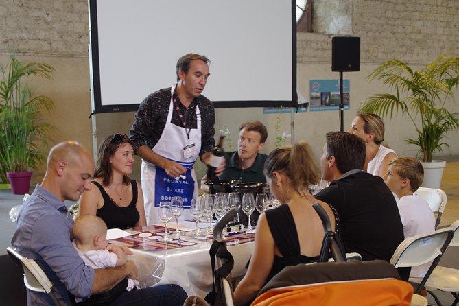 tasting training in a castle of Saint-Emilion