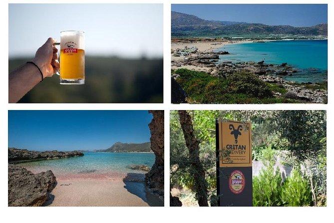 Falasarna beach , Cretan Brewery up 15pers Group Tour , Wheelchair Accessible