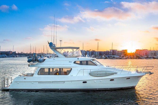 Malibu Coast Sunset Cruise on Luxurious 63 Ft Motor Yacht / 4 Hr Private Charter