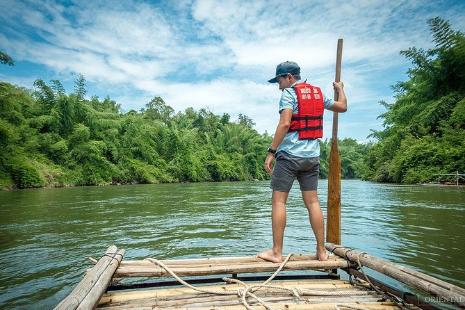 From Kanchanaburi: 4x4 Off Road Adventure, Bamboo Rafting and Hot Springs