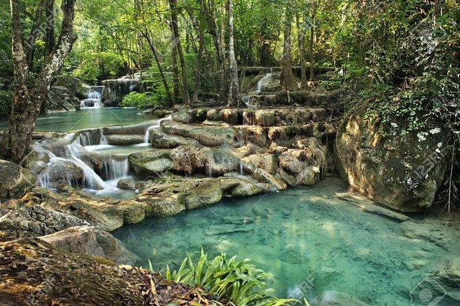 From Kanchanaburi: Erawan Waterfalls and Hellfire Pass
