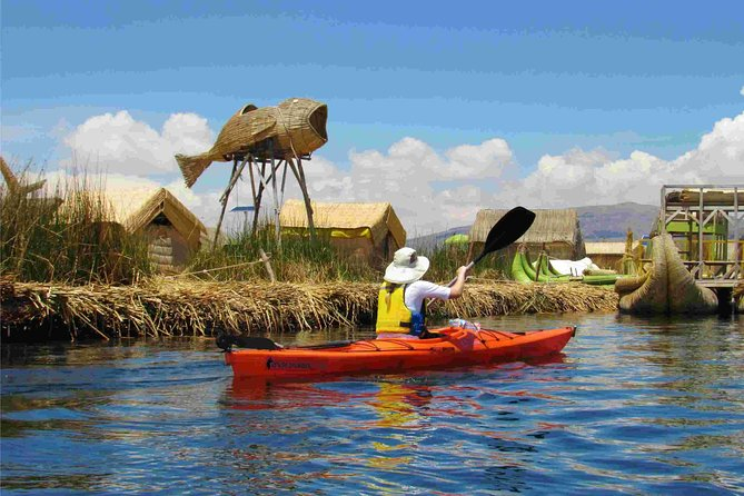 Kayaking to the Uros Floating Islands