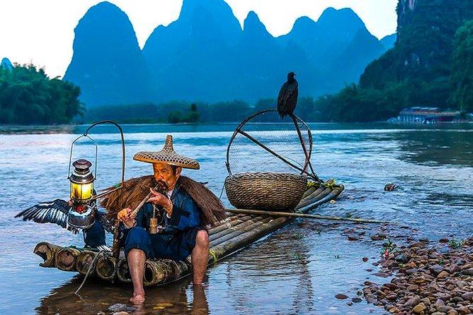 Cruzeiro de 1 dia pelo rio Li de Guilin a Yangshuo com guia particular