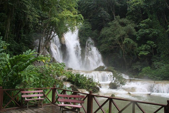 Kuang Si Waterfall including visit nice Caves in Pak Ou