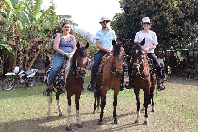 Horseback riding visiting two villages at Lake Atitlan:
