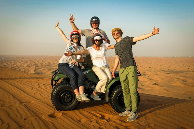 Dubai Morning Quad Bike with Sandboarding and Camel Ride photo 2