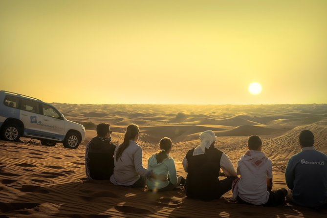 Dubai: Sunset Camel Trek & Red Dunes Safari with BBQ at Al Khayma Camp