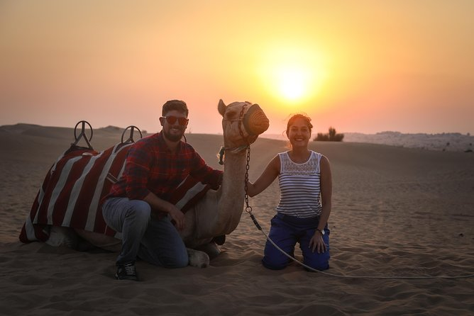 Sunset Camel Trek with BBQ Dinner at Al Khayma Camp