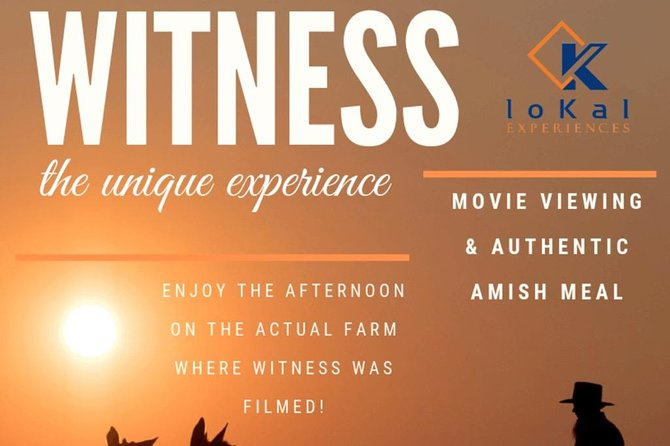 """The Movie """"Witness"""" with Harrison Ford Experience (Exclusive)!"""