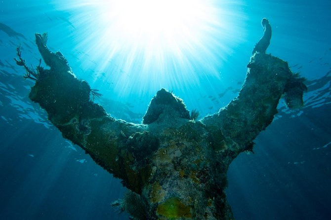 Christ of the Abyss with Paradise Island Charters