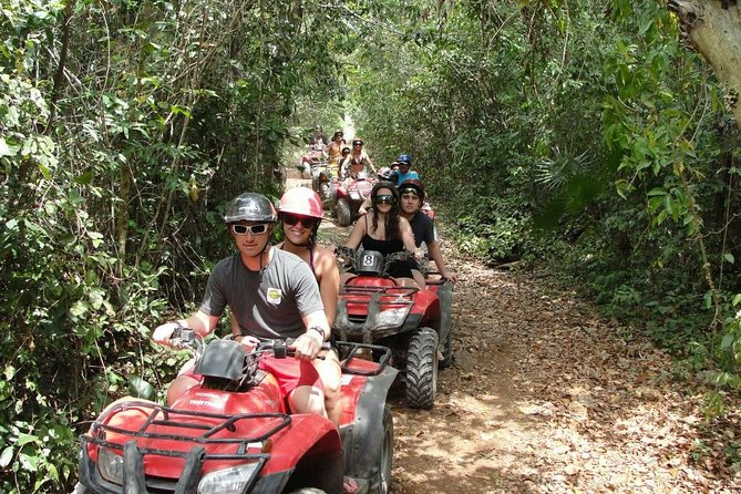 Super Combo ATV, Reef Snorkel, Ziplines, Cenote Swim, Lunch and Transport