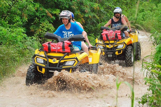 ATV Tour with Cenote swim, Ziplines, Transportation and Lunch Included