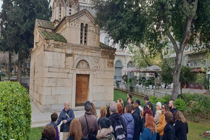 Walking in the historic center of Athens