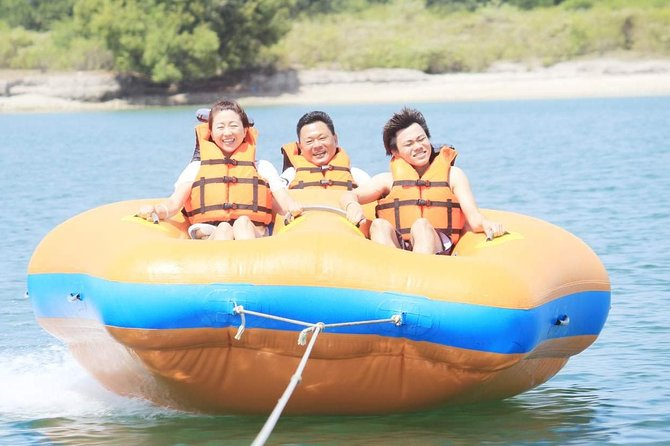 Donut Boat Water Sports Experience at Tanjung Benoa Beach Bali Admission Ticket