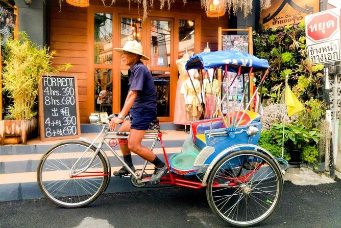 4 Hour Rent & Ride Package - Chut Thai Rental with Rickshaw (for 2 persons)
